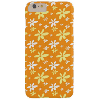 Simple Girly Ditsy Floral Pattern : Orange Barely There iPhone 6 Plus Case