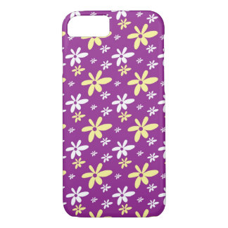 Simple Girly Ditsy Floral Pattern : Purple iPhone 8/7 Case