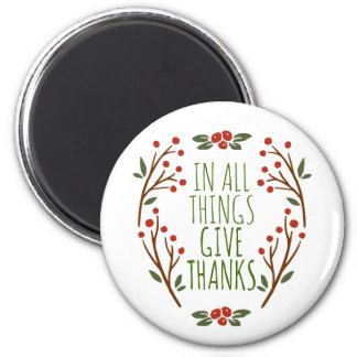 Simple Give Thanks Thanksgiving | Magnet
