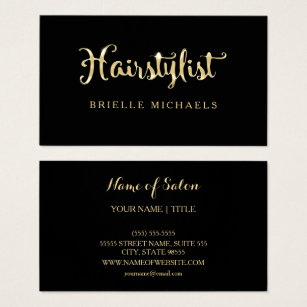 Liquid business cards templates zazzle simple glamour faux black and gold hairstylist business card colourmoves