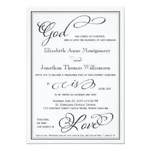 Simple Is Love Wedding Invitation