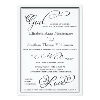 Amazing Simple God Is Love Christian Wedding Invitation