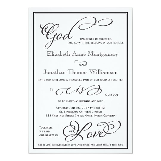 Simple God is Love Christian Wedding Invitation | Zazzle