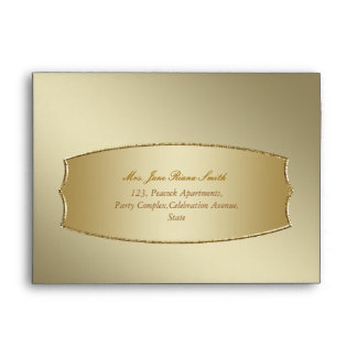 Simple gold any occasion envelopes