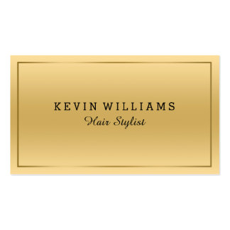 Simple Gold Background With Tin Gold Border Business Card