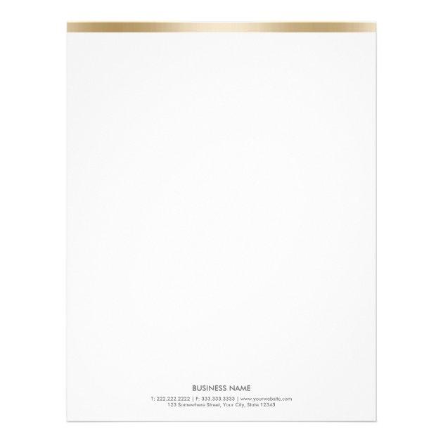 Simple Gold Border Letterhead | Zazzle
