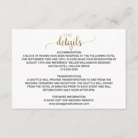 Details Card