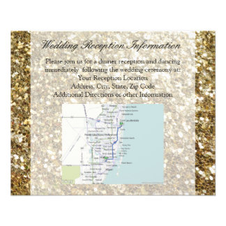 Simple Gold Glitter Printed Wedding Flyer