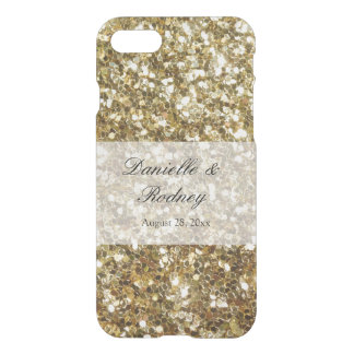 Simple Gold Glitter Printed Wedding iPhone 8/7 Case