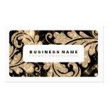 Simple Gold Glitter Swirls Business Card Templates