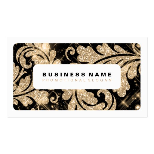 Simple Gold Glitter Swirls Business Card Templates