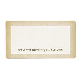 Simple Gold Grunge Modern Boutique Retail Website Label