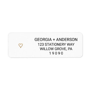 Wedding Return Address Labels | Zazzle