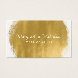 Simple Gold Paint Look Make Up Artist Business Card