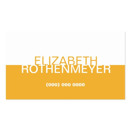 Simple Gold Panel Business Card