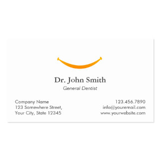Simple Gold Smile Dental Appointment Reminder Business Card