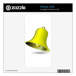simple golden bell for casino and/or christmas the skin for iPhone 4S