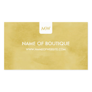 Simple Goldenrod Boutique Monogram Social Media Double-Sided Standard Business Cards (Pack Of 100)