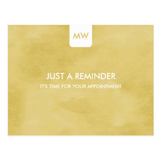 Simple Goldenrod Chic Appointment Reminder QR Code Postcard