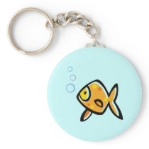 Simple Goldfish Keychain