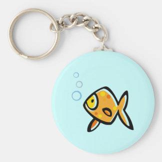 Simple Goldfish Keychain