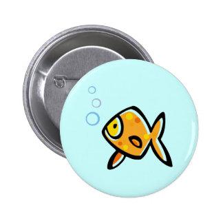 Simple Goldfish Pinback Button