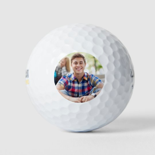 Simple Golfer Photo Template Golf Balls