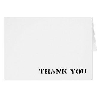Simple gracias cardar tarjetas