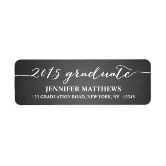 Simple Grad Chalkboard Graduation Address Label