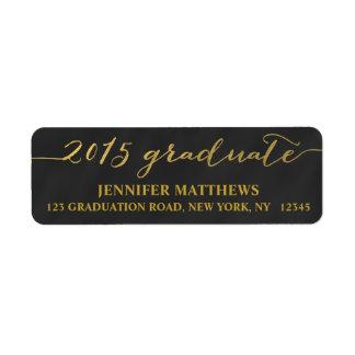 Simple Grad Chalkboard | Graduation Address Label
