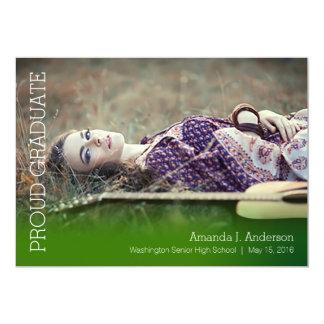 Simple Gradient Grad-Dark Green Card
