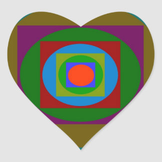 Simple Graphic Design Heart Sticker