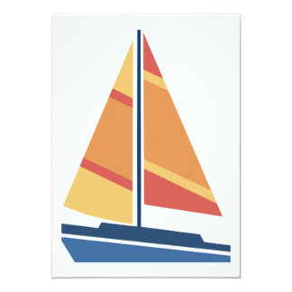 Simple Graphic Sailboat Card