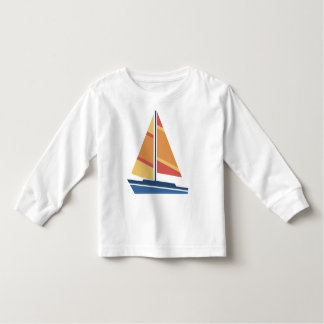 Simple Graphic Sailboat Toddler T-shirt