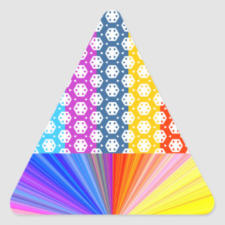 Simple Graphics - Exotic Happy Patterns Triangle Sticker