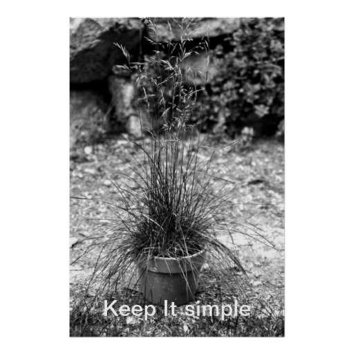 Simple grass poster