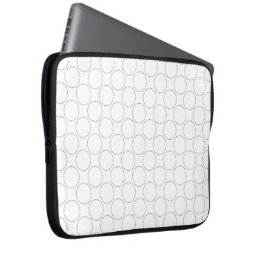 Professional Business Simple Gray Circles Laptop Sleeve
