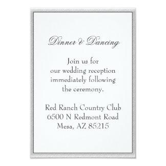 Simple Gray Eco Friendly Wedding Enclosure Card