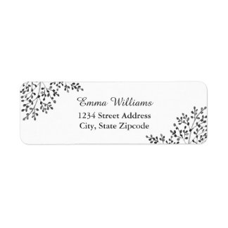 Simple Gray Nature Address Labels
