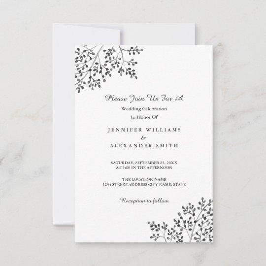Simple Gray Nature Wedding Invitations