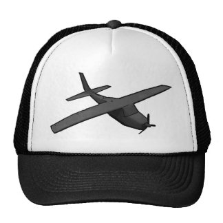 Simple gray propeller airplane hobby hat