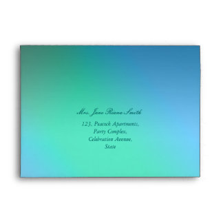 Simple green and blue shade any occasion envelopes