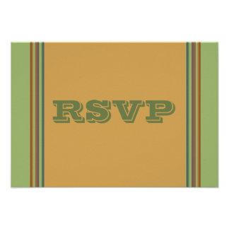 Simple green biege RSVP Custom Invites