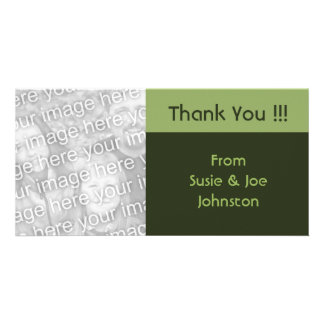 simple green brown thank you card