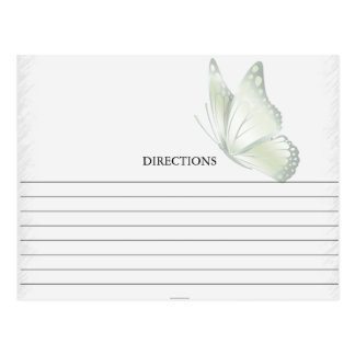Simple Green Butterfly Recipe Cards