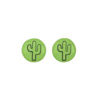 Simple Green Cactus/Cacti Summertime Stud Earrings