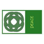 Simple Green Circle Knot Rectangular Sticker