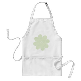 Simple Green Flower Adult Apron