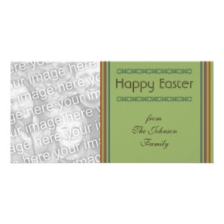 Simple green Happy Easter Photo Card