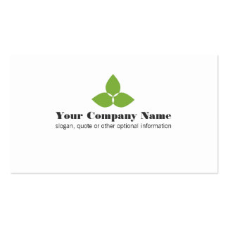 Simple Green Leaf Logo Business Card Pack Of Standard Business Cards